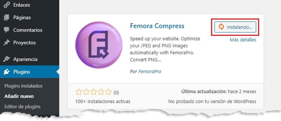 Instalando Femora Compress