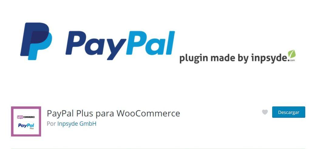 Plugin de paypal para WordPress PayPal Plus para WooCommerce