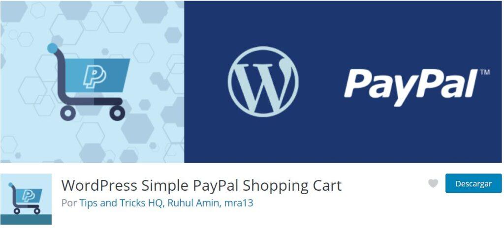 Plugin de paypal para WordPress WordPress Simple PayPal Shopping Cart